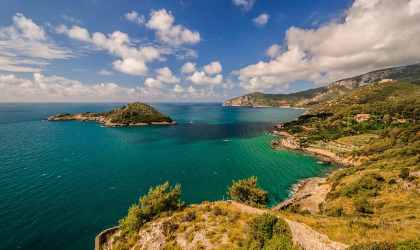 Vista panoramica Argentario Toscana