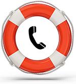 Lifebuoy and phone