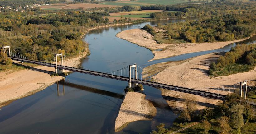 Le pont suspendu de Bonny-sur-Loire