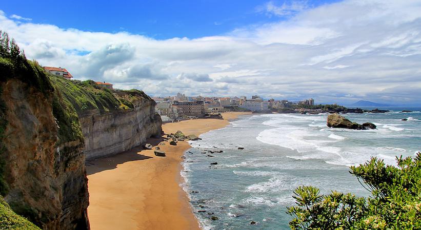 La côte basque à Biarritz