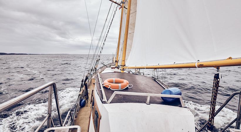 À bord d'une goélette