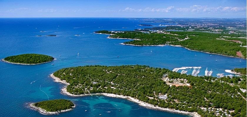 Panoramica arcipelago Isole Brioni