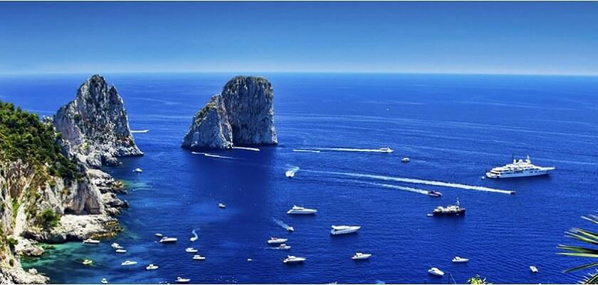 Panoramica delle vicine Isole Pontine