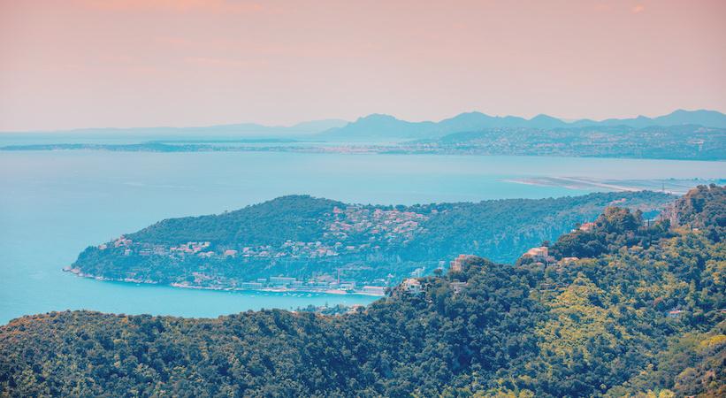Vue panoramique depuis le Mont Boron