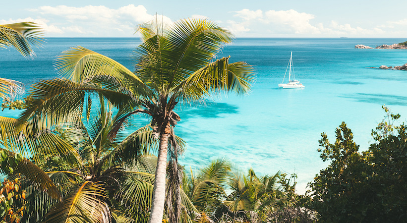 Navigation dans l'archipel des Seychelles