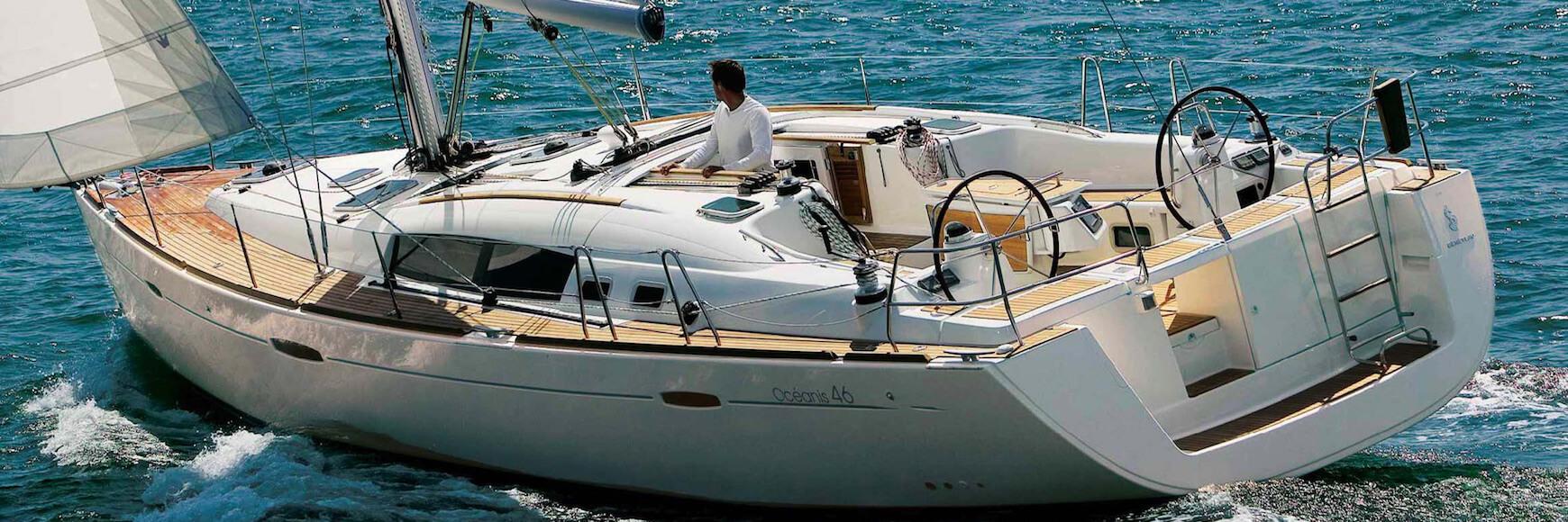 Rental sailboat