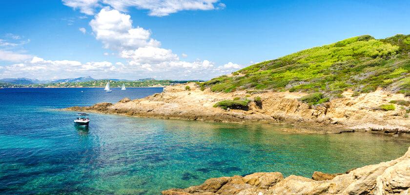 Cala sull'isola Porquerolles