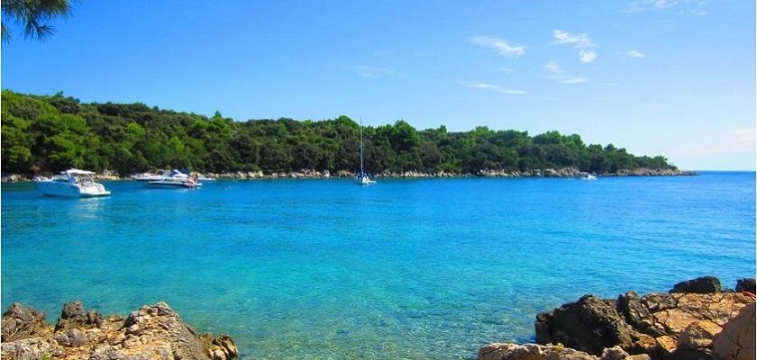 Il mare dell'Isola di Rab