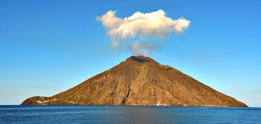 Vista sul vulcano Stromboli